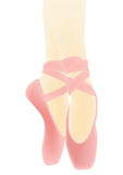 Pink Ballet shoes Stock Photos