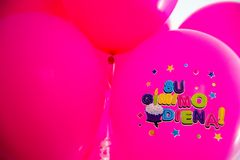 Pink ballons royalty free stock images