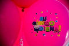 Pink ballons stock photography
