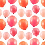 Pink balloon composition Stock Images