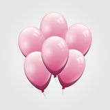 Pink balloon on gray background Stock Photography