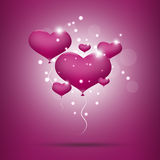 Pink balloon hearts for valentines day Stock Photos