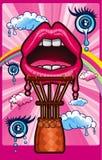 Pink Balloon lips Stock Photo