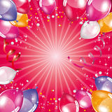 Pink balloons background. Pink balloons vector festive background Royalty Free Stock Photos
