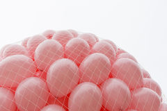 Pink balloons Breast cancer. More than a thousand pink balloons are prepared for release in memory of every woman died from breast cancer last year stock photos