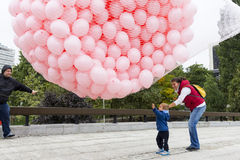 Pink balloons Breast cancer Royalty Free Stock Photos