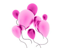 Pink balloons concept isolated on white Stock Photography