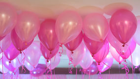 Pink balloons. Floating, background. party Celebration concept Royalty Free Stock Photos