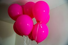 Pink balloons royalty free stock photos