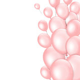 Pink balloons on white background. Vector illustration Stock Photography