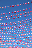 Pink balls in Gay area in Montreal Royalty Free Stock Images
