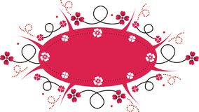 Pink Banner. A decorative pink banner with floral details Vector Illustration