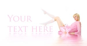 Pink banner Royalty Free Stock Photos