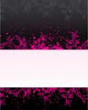 Pink banner. Pink grunge banner, vector illistration Stock Photography