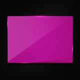Pink banner on carbon background Royalty Free Stock Images