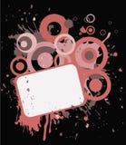 Pink banner in grange style vector illustration