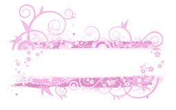 Pink banner illustration Stock Photos