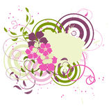 Pink Banner With Flowers Royalty Free Stock Photo