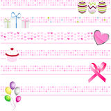 Pink Banners Collection Royalty Free Stock Images