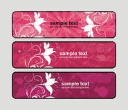 Pink banners Royalty Free Stock Photos