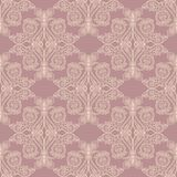 Pink baroque pattern Royalty Free Stock Images
