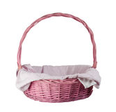 Pink basket Royalty Free Stock Image