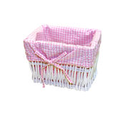 Pink basket Royalty Free Stock Images