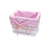 Pink basket Royalty Free Stock Images