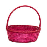 Pink basket Stock Image