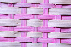 Pink Basket Weave. Close-up of an Easter Basket Royalty Free Stock Photography