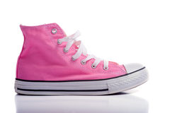 Pink Basketball Shoes Stock Photo
