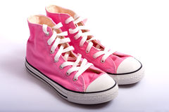 Pink Basketball Shoes Royalty Free Stock Photography