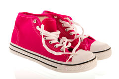 Pink basletball shoes Stock Images