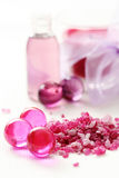 Pink bath Royalty Free Stock Images