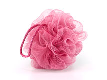 Pink bath puff Stock Images