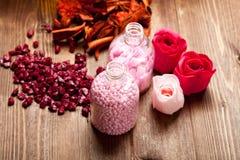 Pink bath salt Royalty Free Stock Photos