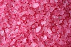 Pink bath salt crystals Royalty Free Stock Photos