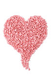 Pink bath salt love heart Royalty Free Stock Photos