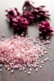 Pink bath salt Royalty Free Stock Photography