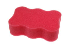 Pink bath sponge Royalty Free Stock Images