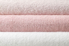 Pink bath towel Royalty Free Stock Image