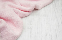 Pink bath towel Stock Images