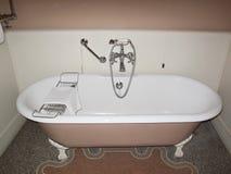 Pink bath tub. Rome, Italy - December 20, 2009 : Bath tub in a hotel room Stock Photos