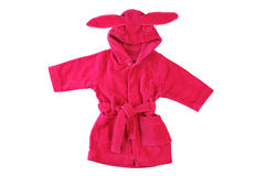 Pink bathrobe with rabbit ears Royalty Free Stock Photography