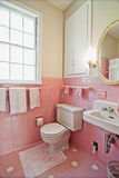 Pink bathroom Royalty Free Stock Photo