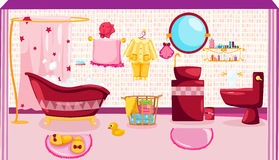 Pink bathroom Royalty Free Stock Image