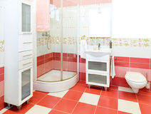 Pink bathroom Stock Images