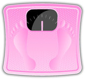 Pink bathroom scale Stock Photo