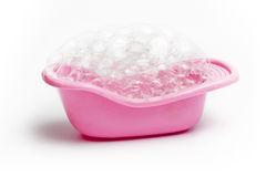 Pink bathtub Royalty Free Stock Images