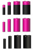 Pink battery Stock Photo